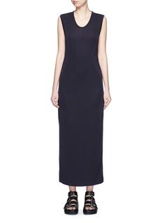 T BY ALEXANDER WANGMatte jersey sleeveless maxi dress