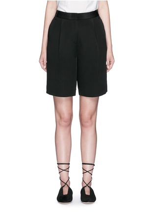 Main View - Click To Enlarge - Tibi - Wide leg silk morocain shorts