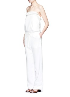 TIBI Crinkled wide leg cargo pants