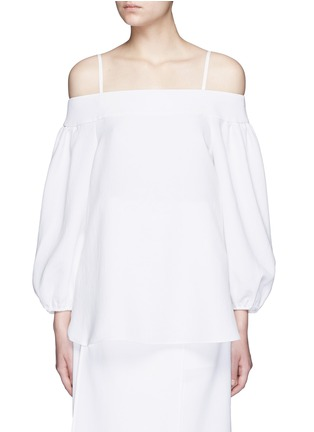 Detail View - Click To Enlarge - Tibi - Blouson sleeve off-shoulder top