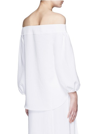 Back View - Click To Enlarge - Tibi - Blouson sleeve off-shoulder top