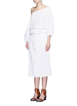 Figure View - Click To Enlarge - Tibi - Blouson sleeve off-shoulder top