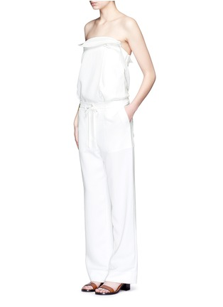 Figure View - Click To Enlarge - Tibi - Belted drape strapless trench top