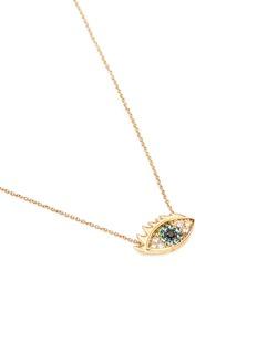 Delfina Delettrez'Eyes on Me' diamond 18k yellow gold necklace