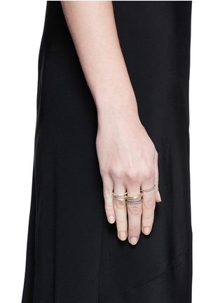 Spinelli Kilcollin-'Nexus' diamond 18k gold five link ring