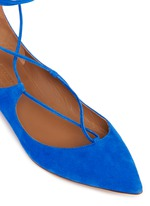 'Christy' lace-up suede flats