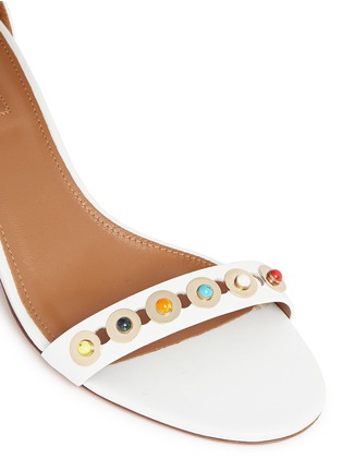 Detail View - Click To Enlarge - Aquazzura - 'Byzantine' stud leather sandals