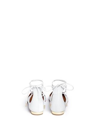 Aquazzura-'Christy' lace-up nappa leather flats