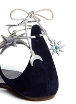 x Poppy Delevingne 'Midnight' metallic star suede lace-up sandals