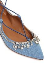 'Christy' strass lace-up denim flats