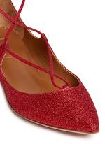 'Christy' lace-up metallic glitter flats