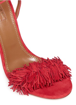 Detail View - Click To Enlarge - Aquazzura - 'Wild Thing' fringe suede sandals