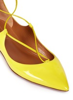 'Christy' lace-up patent leather flats