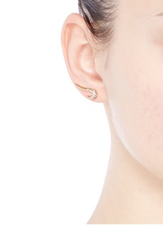 Michelle Campbell 'Galaxy Curl' diamond 14k gold single climber earring