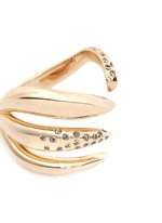 Galaxy Thorn' diamond 14k gold open ring