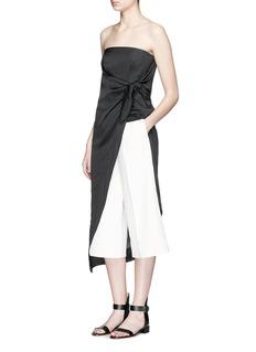 CÉDRIC CHARLIERWrap bow strapless dress
