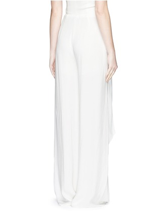 Back View - Click To Enlarge - Cédric Charlier - Gathered waist crépon wide leg pants
