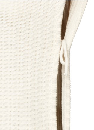 Detail View - Click To Enlarge - Cédric Charlier - Open side rope drawstring knit top
