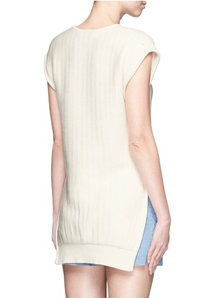 Back View - Click To Enlarge - Cédric Charlier - Open side rope drawstring knit top