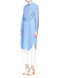CÉDRIC CHARLIER Gathered waist cotton poplin shirt dress