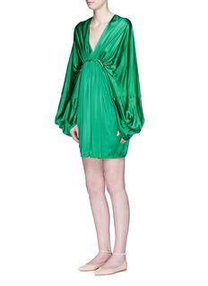 STELLA MCCARTNEY'Etta' beaded silk blend bell sleeve dress