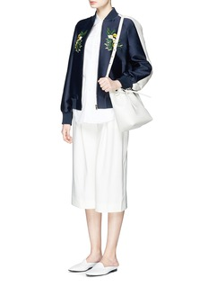 STELLA MCCARTNEY 'Lorinda' floral embroidery cotton-silk bomber jacket