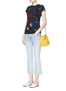STELLA MCCARTNEY Embroidered patch cotton T-shirt