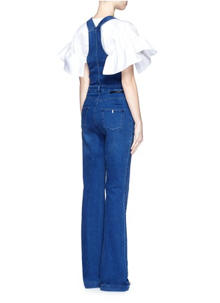 Back View - Click To Enlarge - Stella McCartney - Medium wash denim dungarees