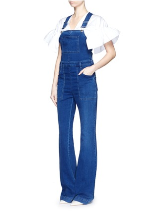 Figure View - Click To Enlarge - Stella McCartney - Medium wash denim dungarees