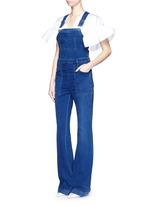 Medium wash denim dungarees