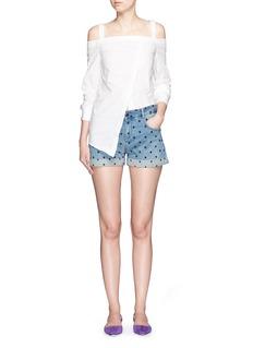 STELLA MCCARTNEYStar embroidery denim shorts