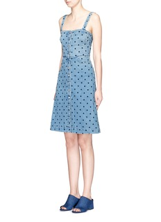 STELLA MCCARTNEYStar embroidery button front denim dress