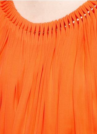 Detail View - Click To Enlarge - Stella McCartney - 'Judy' beaded accordion pleat silk dress