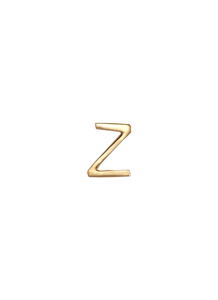 18k yellow gold letter charm – Z