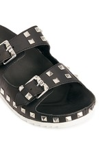 'Utopia' stud leather slide sandals