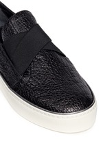 'Flex' elastic strap grainy leather skate slip-ons