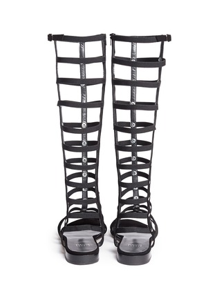 Back View - Click To Enlarge - Stuart Weitzman - 'Gladiator' caged suede sandals