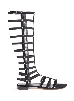 Main View - Click To Enlarge - Stuart Weitzman - 'Gladiator' caged suede sandals