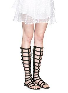 STUART WEITZMAN'Gladiator' caged suede sandals
