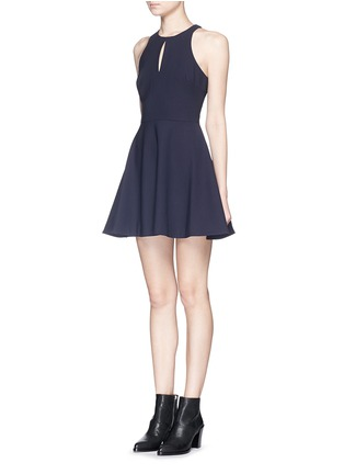 Front View - Click To Enlarge - Elizabeth and James - 'Scout' racerback crepe mini dress