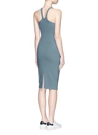 Back View - Click To Enlarge - Elizabeth and James - 'Edi' V-strap neckline ponte knit dress