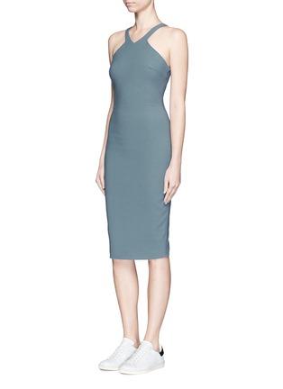 Figure View - Click To Enlarge - Elizabeth and James - 'Edi' V-strap neckline ponte knit dress