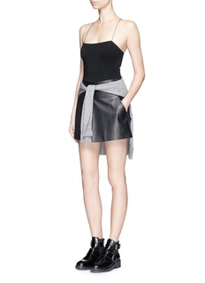 T BY ALEXANDER WANGCutout back stretch knit camisole