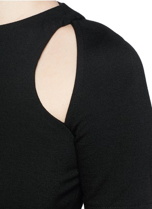 Detail View - Click To Enlarge - T By Alexander Wang - Cutout ponte knit top