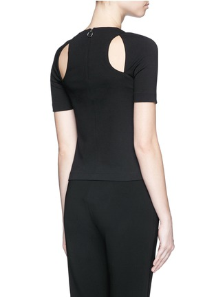 Back View - Click To Enlarge - T By Alexander Wang - Cutout ponte knit top