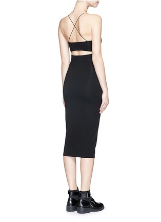 Back View - Click To Enlarge - T By Alexander Wang - Cutout back stretch knit tank dress