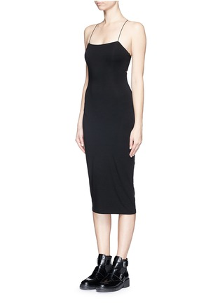 Front View - Click To Enlarge - T By Alexander Wang - Cutout back stretch knit tank dress