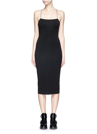 Main View - Click To Enlarge - T By Alexander Wang - Cutout back stretch knit tank dress