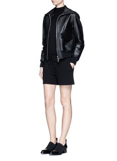 T BY ALEXANDER WANG Enzyme wash French terry romper