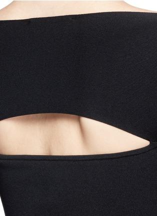 细节 - 点击放大 - T BY ALEXANDER WANG - 挖空设计一字领连衣裙